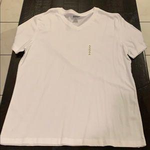 XL Arizona Jeans White V-Neck T-Shirt